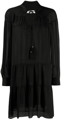 MICHAEL Michael Kors long-sleeve flared dress