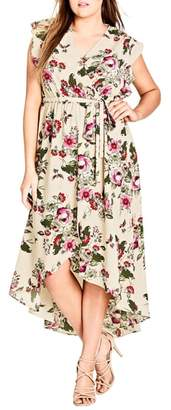 City Chic Lolita Floral High/Low Maxi Dress