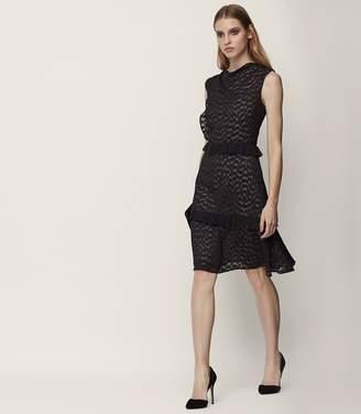 Reiss Abigail Burnout-Detail Dress