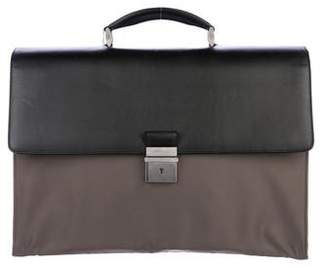 Giorgio Armani Leather & Nylon Briefcase