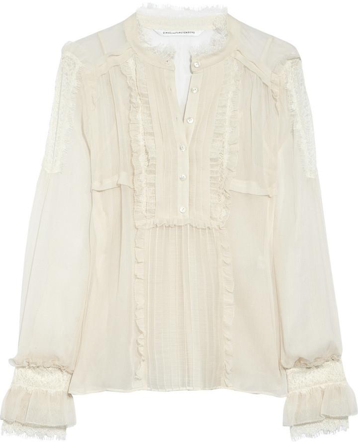 Diane von Furstenberg Cleland silk-chiffon blouse