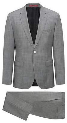 HUGO BOSS Regular-fit patterned suit in a virgin-wool blend