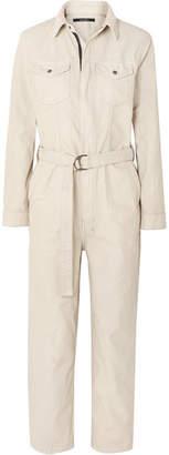 Ksubi Crypt Belted Denim Jumpsuit - Cream