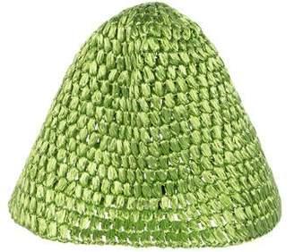 Dolce & Gabbana Metallic Raffia Hat w/ Tags