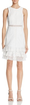 AQUA Circle Lace Ruffle Body-Con Dress - 100% Exclusive $98 thestylecure.com