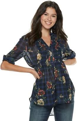 American Rag Juniors' Pintuck Floral Tunic