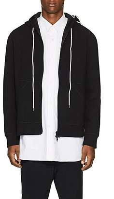 Craig Green Men's Lace-Up Bonded Jersey Hoodie - Black