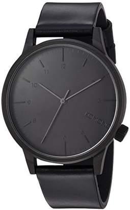 Komono 'Winston Regal' Quartz Stainless Steel and Leather Dress Watch