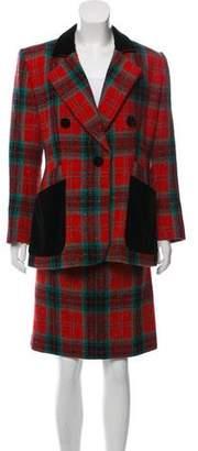 Saint Laurent Wool Skirt Suit Set
