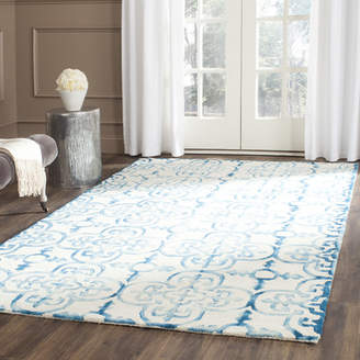 Bungalow Rose Naples Park Hand-Tufted Ivory/Turquoise Area Rug