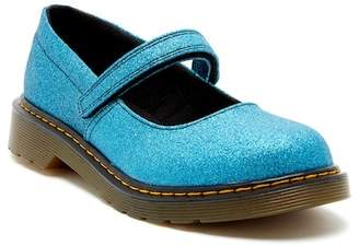 Dr. Martens Maccy Blue Glitter Mary Jane (Big Kid)