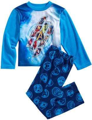 Marvel Little & Big Boys 2-Pc. Avengers Fleece Pajama Set