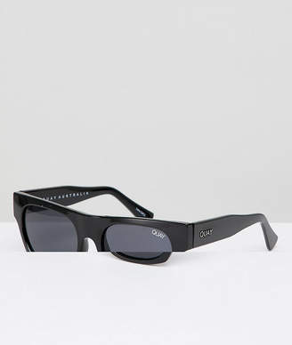 Quay Festival Collection Featuring Sofia Richie Something Extra Square Sunglasses In Black