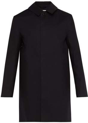 MACKINTOSH Single Breasted Bonded Cotton Overcoat - Mens - Black