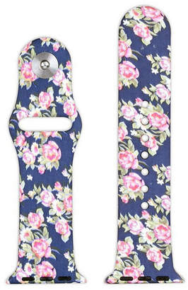 OLIVIA PRATT Olivia Pratt Compatible With Apple Watch Unisex Blue Watch Band-8844navyfloral38