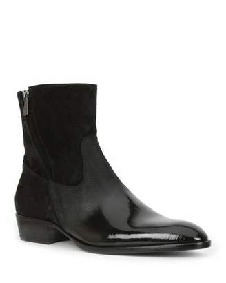Bruno Magli Men's Risoli Leather Zip-Up Ankle Boots