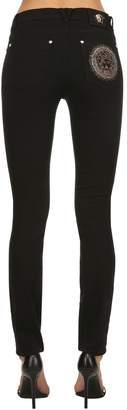 Versace Medusa Embellished Slim Denim Jeans