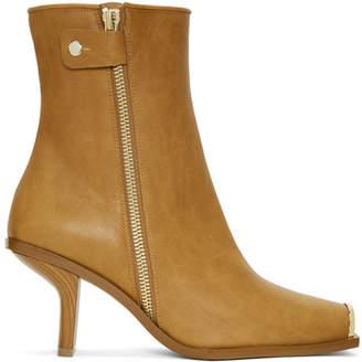 Stella McCartney Tan Metallic Toe Boots