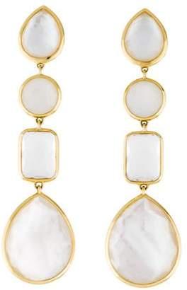 Ippolita 18K Mother of Pearl, Moonstone & Quartz Rock Candy Linear Drop Earrings