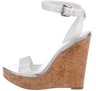 Jean-Michel Cazabat Leather Wedge Sandals