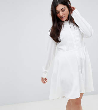Unique 21 Hero Plus Shirt Dress With Pleated Skirt
