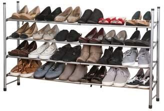 Rebrilliant 4 Tier Expandable 24 Pair Shoe Rack