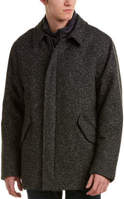 Canali Wool & Silk-Blend Car Coat