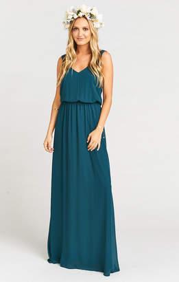 Show Me Your Mumu Kendall Maxi Dress ~ Deep Jade Chiffon