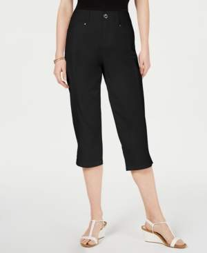 Style&Co. Style & Co Slit-Hem Curvy-Fit Cropped Pants, Created for Macy's