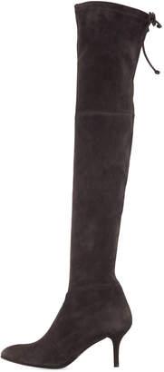 Stuart Weitzman TieModel Suede Over-The-Knee Boots