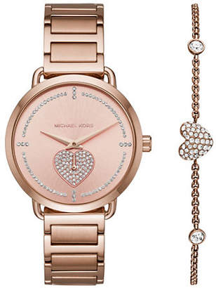 Michael Kors Slater Rose Gold-Tone Watch