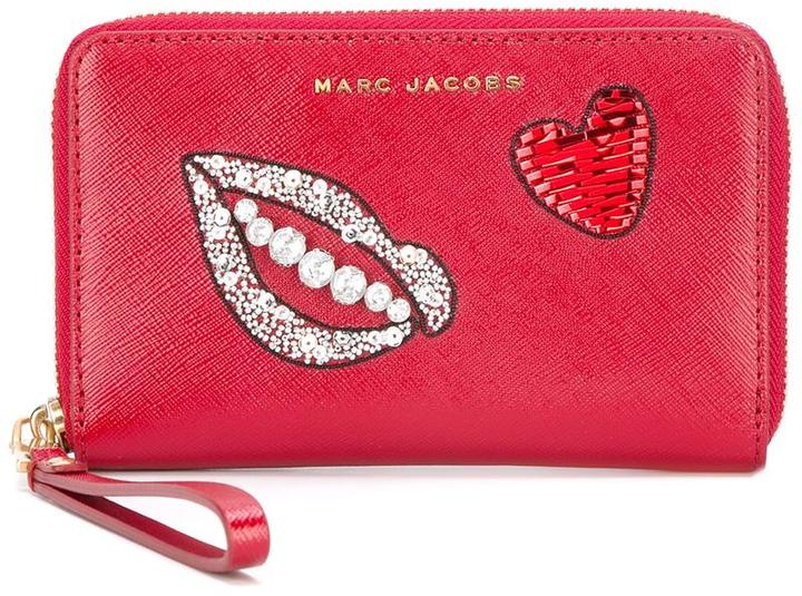 Marc Jacobs Marc Jacobs embellished zip purse