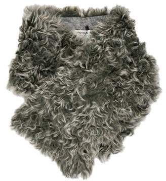 Eugenia Kim Flannel-Lined Shearling Stole w/ Tags
