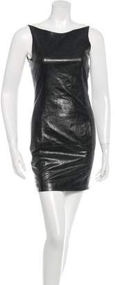 Theyskens' Theory Leather Sleeveless Dress