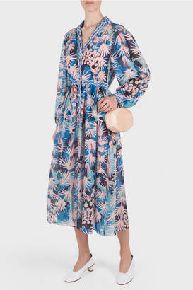 Temperley London Garden Cacti Shirt Dress