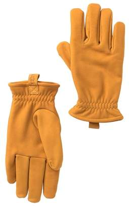 UGG Suede Faux Fur Lined Gloves