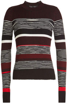 Proenza Schouler Striped Pullover with Wool, Silk and Cashmere