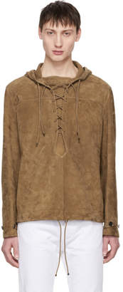 Saint Laurent Brown Suede Laced Jacket