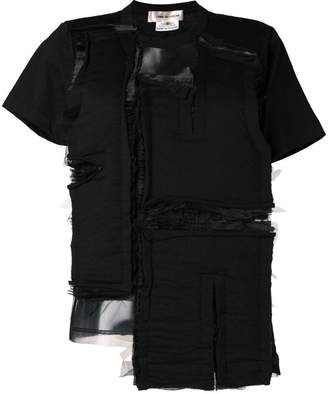 Comme des Garcons deconstructed panel top