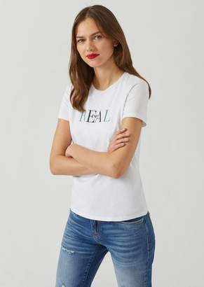 Emporio Armani Jersey T-Shirt With Real Embroidery