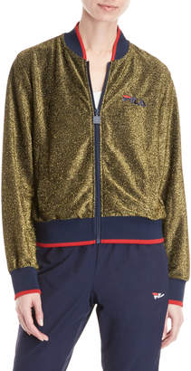 Fila Metallic Gold Bomber Jacket