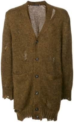 Alexander McQueen distressed longline cardigan