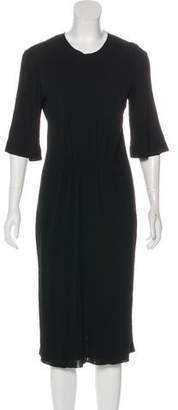 Calvin Klein Collection Midi Three-Quarter Sleeve Dress