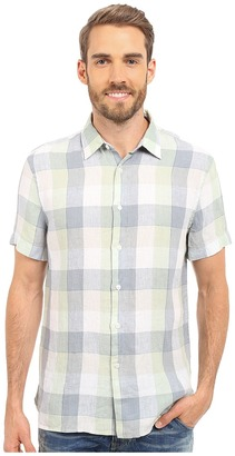Perry Ellis Linen Buffalo Check Pattern Shirt $59.99 thestylecure.com