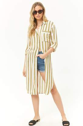 Forever 21 Striped Tunic Shirt