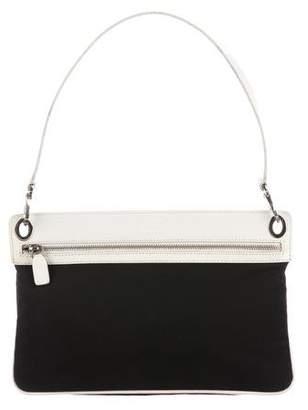 Tod's Leather-Trimmed Nylon Shoulder Bag