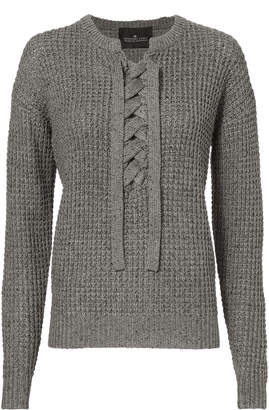 Designers Remix Kimmy Lace-Up Melange Sweater