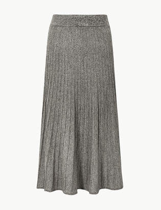 Marks and Spencer Textured Knitted Midi Skirt