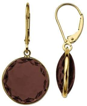 Lord & Taylor Smoky Quartz Earrings in 14K Yellow Gold