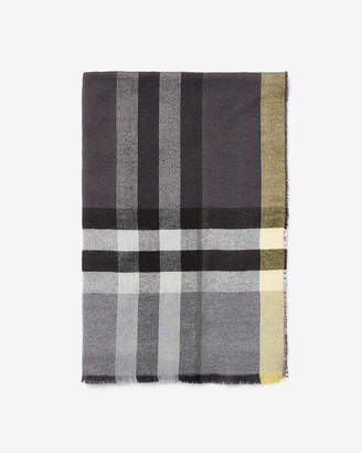 Express Plaid Woven Scarf